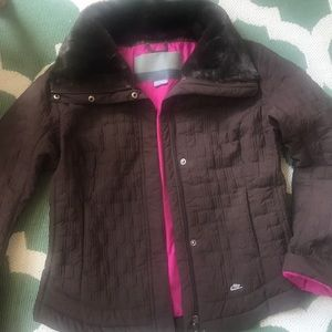 Nike quilted  Brown jacket xl used a few times